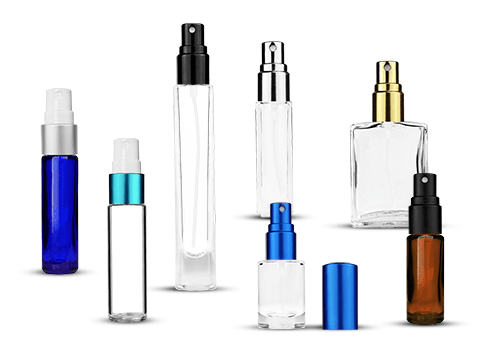 Glass Bottles with Fine Mist Sprayers