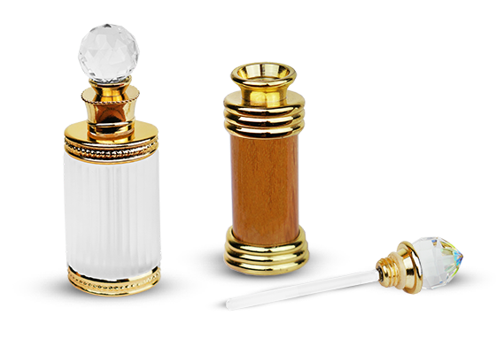 Perfume Bottles with Metal and Beads Decoration